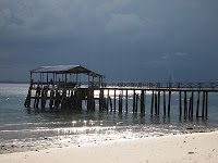 Pulau Besar jetty with distant storm