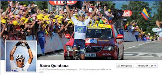 Imagen de la página en Facebook de Nairo Quintana