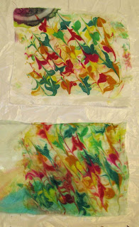 Deborah Younglao silk painting workshop: marbling