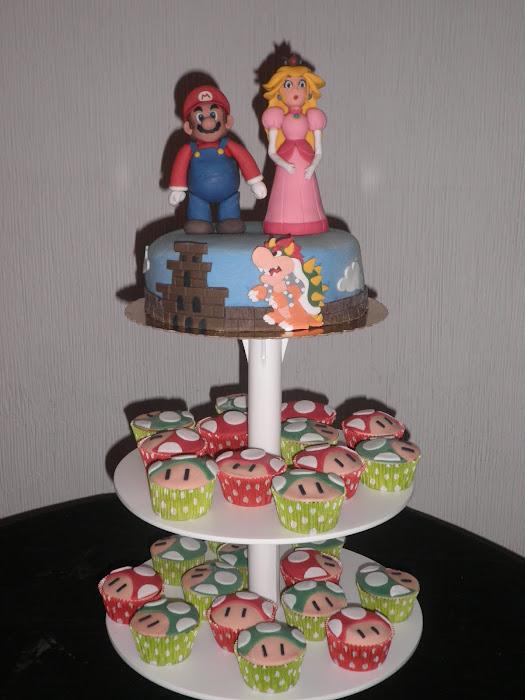 Tarta Mario Bros y Peach