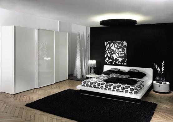 dormitorio minimalista y colorido - diseño interior por huelsta