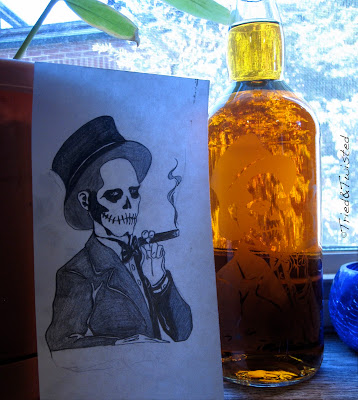 Baron Samedi Rum Bottle design | On Tried & Twisted