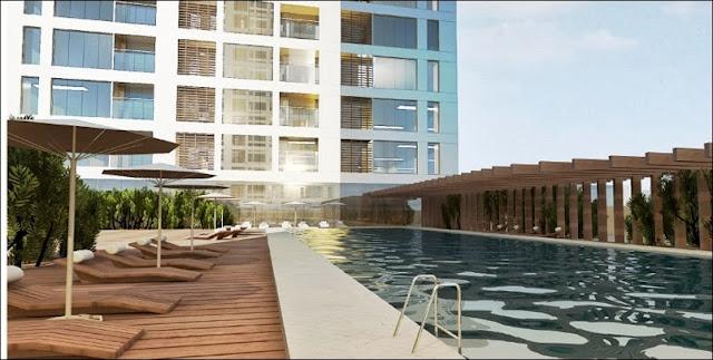 Hồ bơi tại khu căn hộ Cantavil Premier