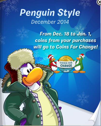 Club Penguin Penguin Style Catalog Cheats December 2014