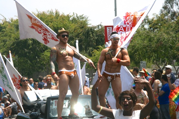 Abbey go-go boys LA Pride Parade 2013
