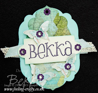 Bekka's Epic Day Name Badge for Stampin' Up! Training - find out more here