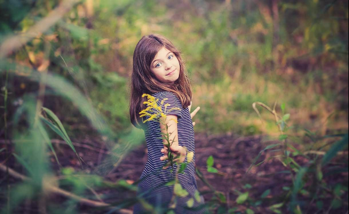 Cute Child at Nature
