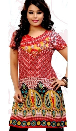 Embroidered Cotton Kurtis for Summer 2014