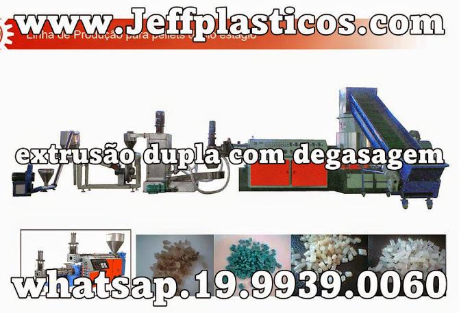 Extrusora div. de reciclagem e equipamentos