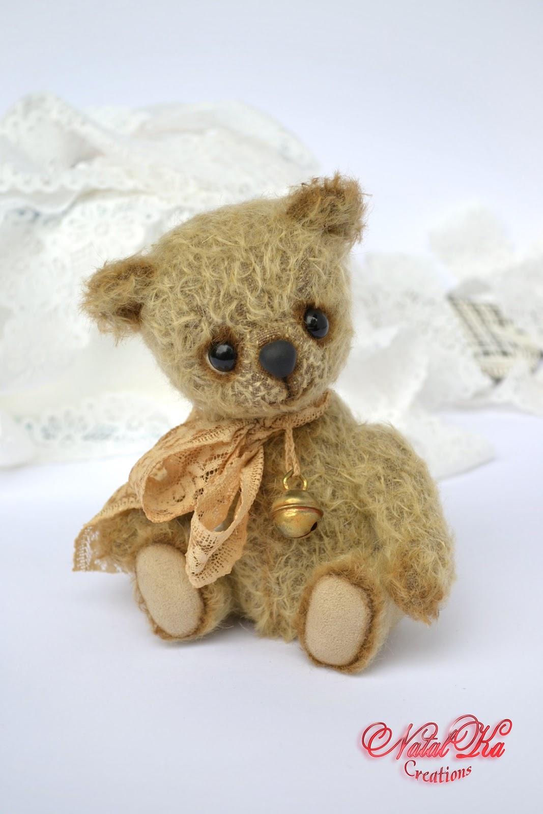 Artist teddy bear ooak handmade by NatalKa Creations. Авторский мишка тедди от NatalKa Creations.
