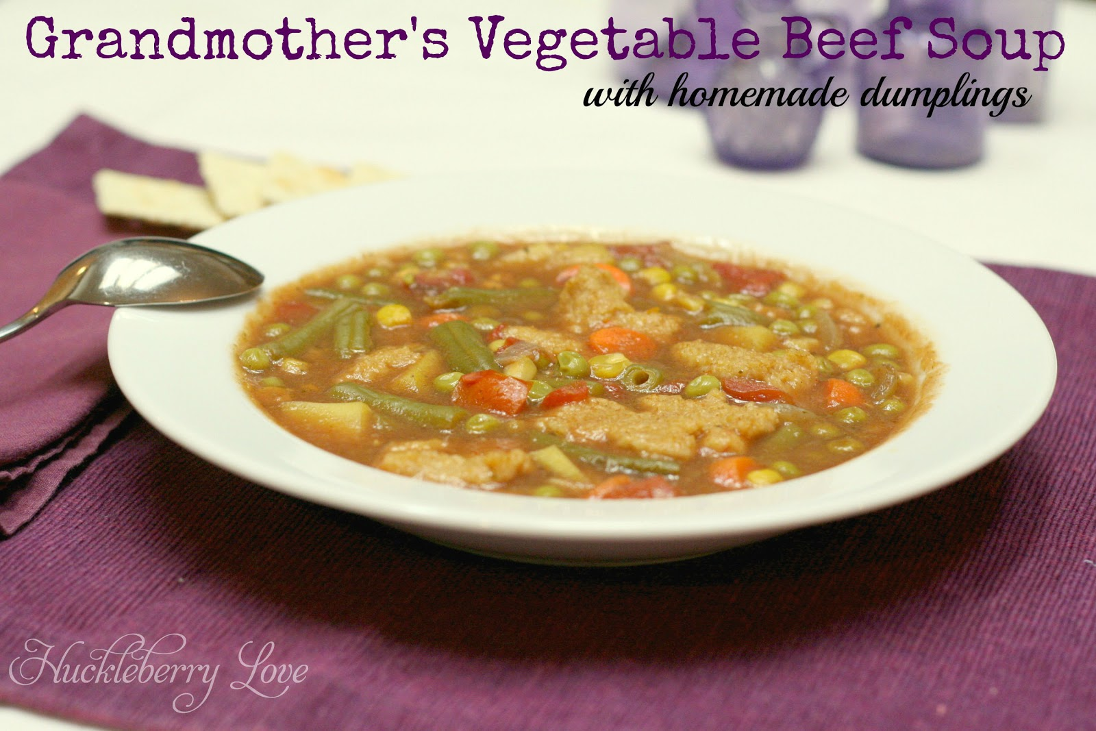 Grandmother S Beef Vegetable Soup With Homemade Dumplings Recipe