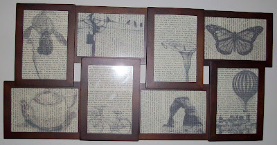 book art, page art, print on book page art