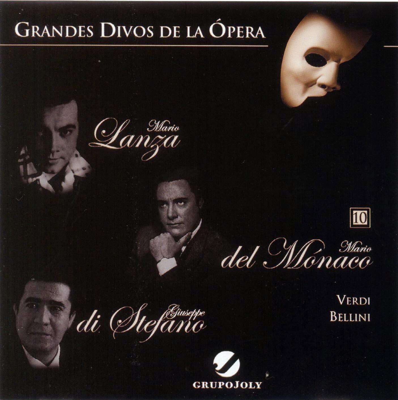 Grandes Divos de la Ópera-cd10-Mario Lanza, Mario del Mónaco & Giuseppe di Stefano-carátula frontal