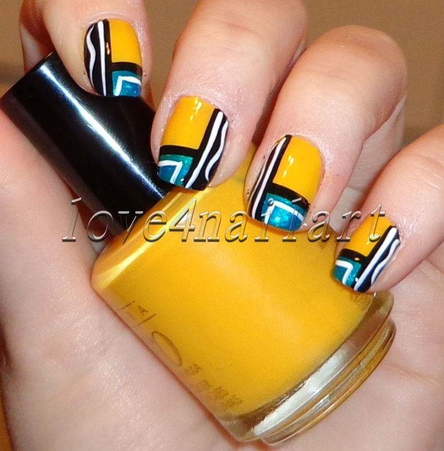 Nail Art For Short Nails Beginners: Love4NailArt: Super Easy Geometric Nail Art Design Tutorial