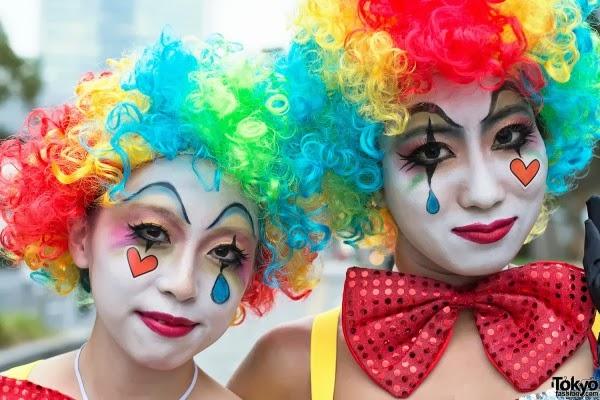 Halloween jester makeup