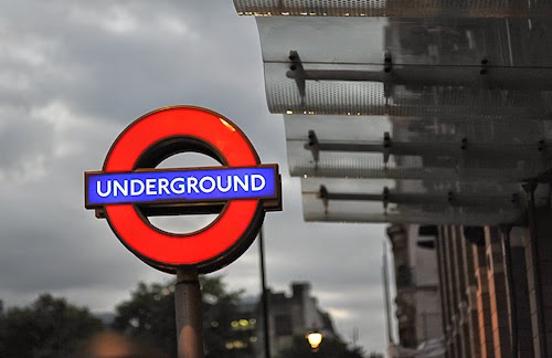 The underground in London, England