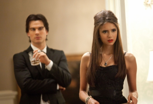 Demon Salvatore and Elina Gilbert From The Vampire Diaries