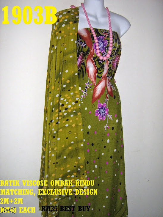 BVM 1903B: BATIK VISCOSE OMBAK RINDU MATCHING, EXCLUSIVE DESIGN, 2M+2M
