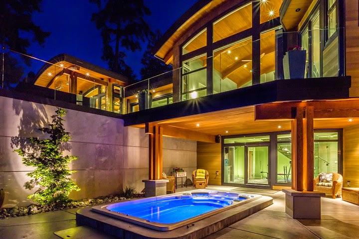 Casa cadence modernas fachadas en madera vancouver - Diseno de casas de madera ...
