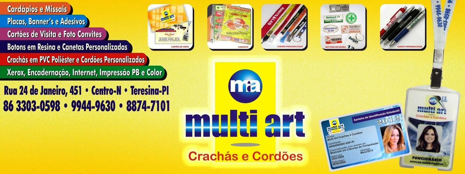 MULT ART Crachás e Cordões