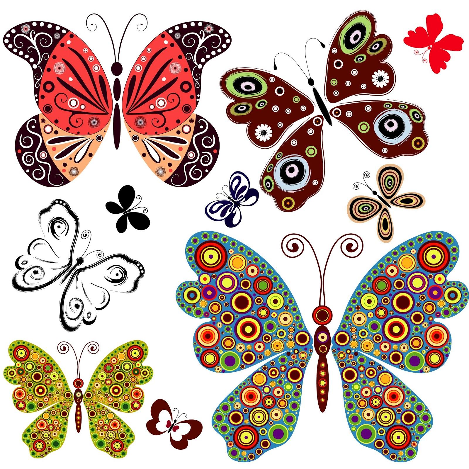 Dibujos de mariposas de colores para imprimir imagui - Imagenes de mariposas de colores ...