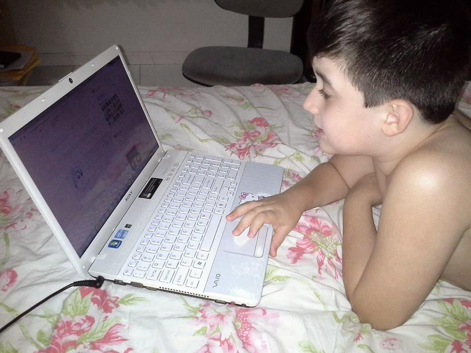 Alexandre - 9 anos - Filho da Amanda do Pingos e Gotas