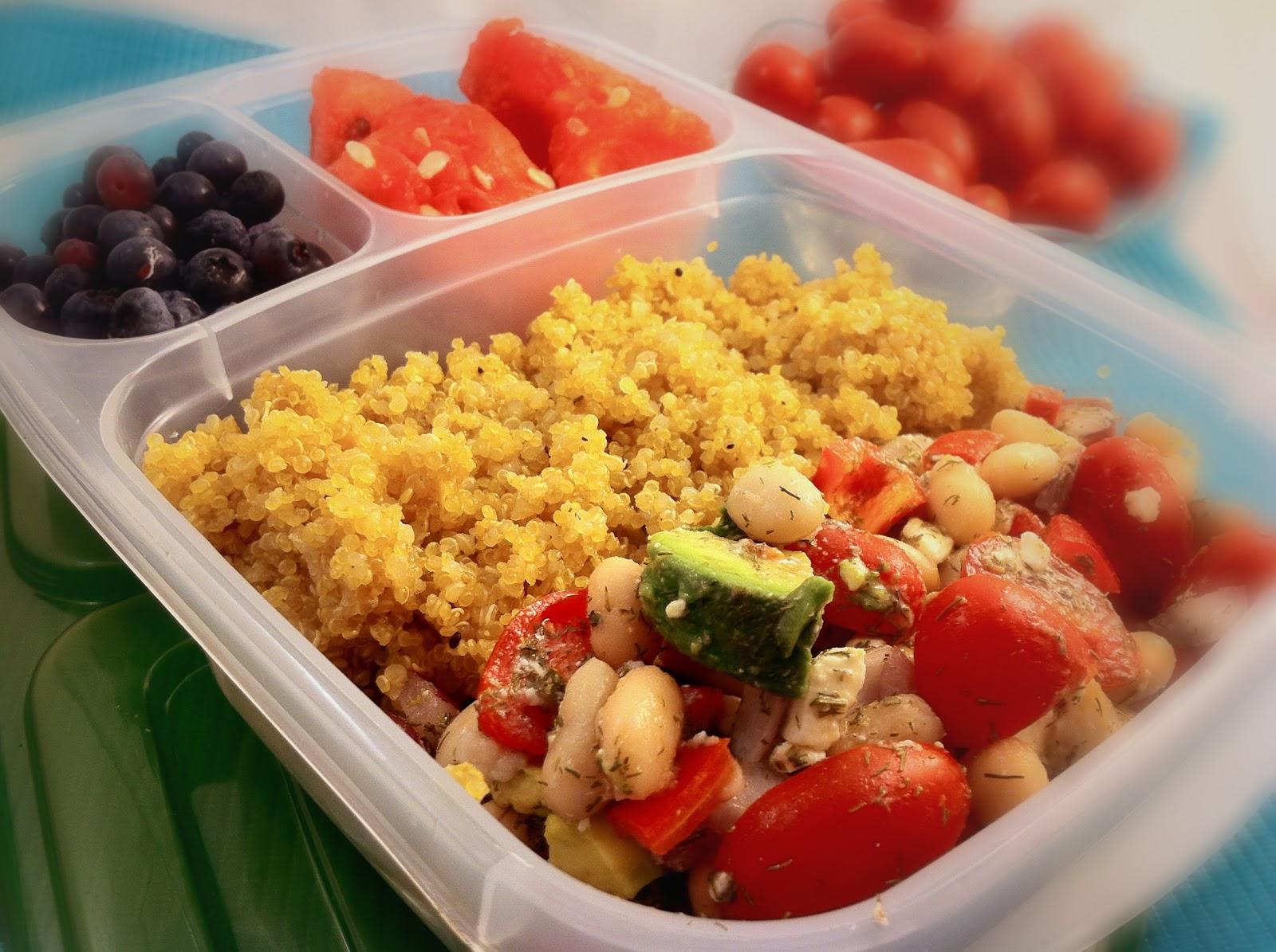 Operation: Lunch Box: Day 1 - White Bean Mediterranean Salad