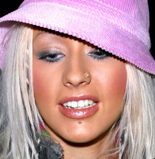 Paris Hilton Labret And Nose Piercing
