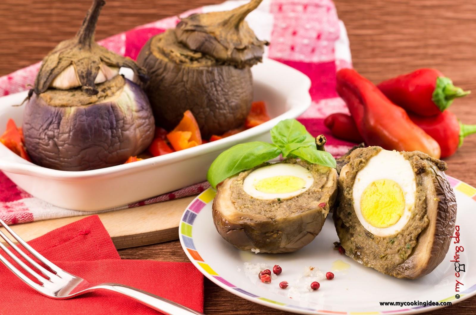 Melanzane farcite, ricetta vegetariana, My cooking idea