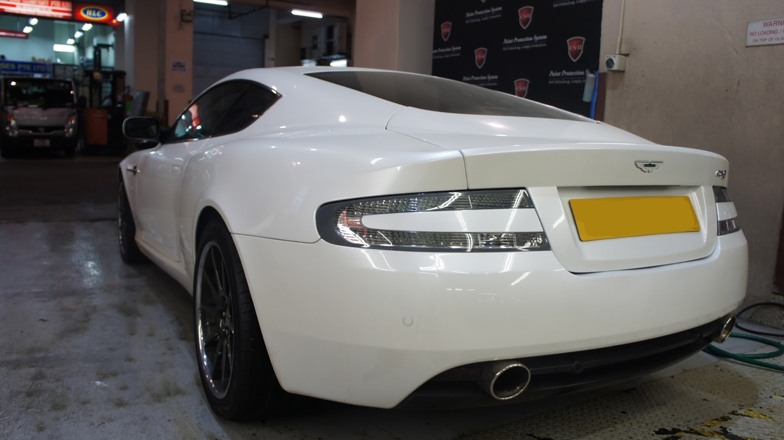 I Love CSII Paint Protection System PPF On Aston Martins Headlights - Aston martin headlights