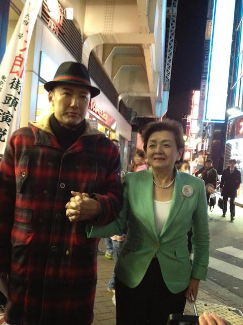 未来の党嘉田由紀子氏と今はひとりの山本太郎氏