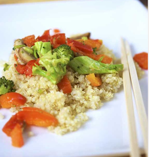 Clean Eating Vegetable Quinoa Stir Fry Recipe