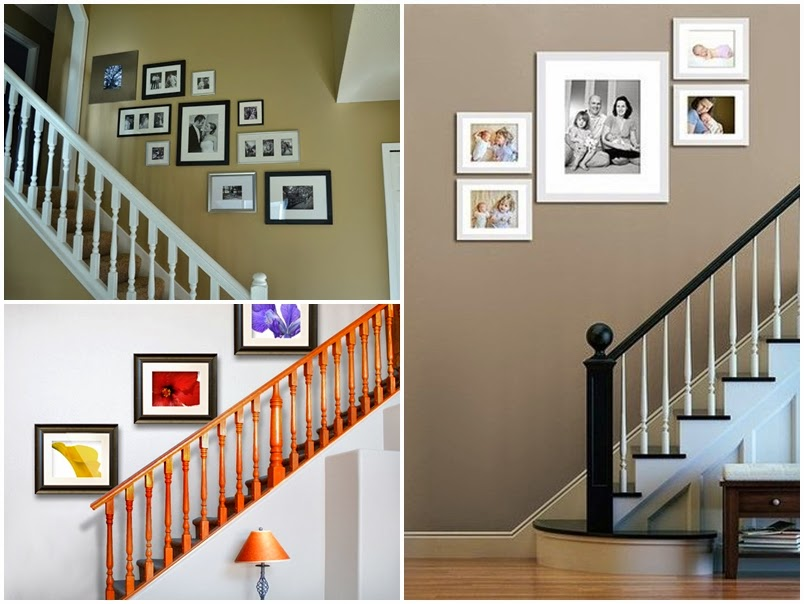 i d e a c mo colocar cuadros en escaleras