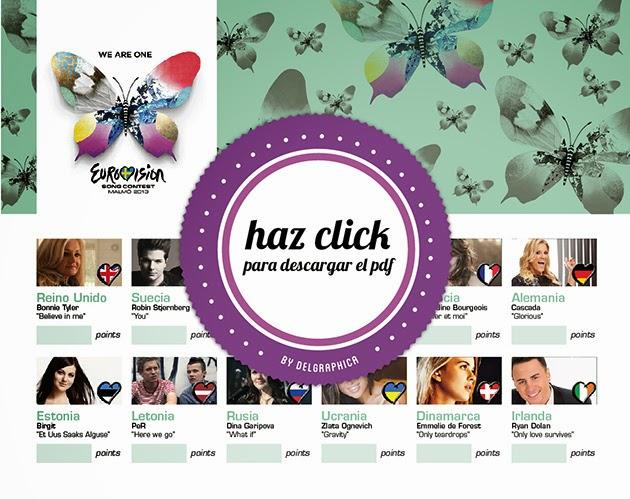 Eurovisión 2013 - Haz click para descargar el pdf