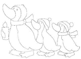 desenho de pinguins para pintar
