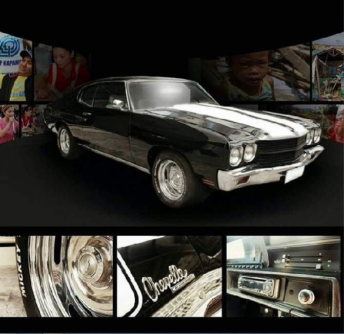 Charity Auction for Angel Locsin's classic 1970 Chevrolet Chevelle