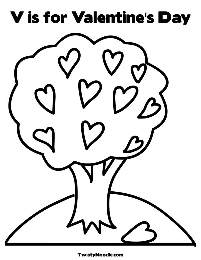 cartoon valentines day coloring pages - photo#40
