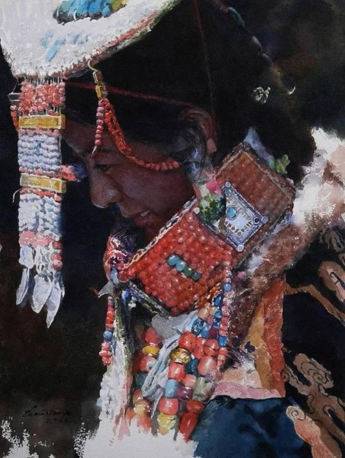 "Zhou Tianya «Tibetan bride»."""