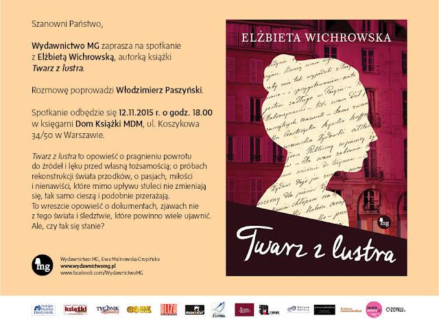 Elżbieta Wichrowska Twarz z lustra - spotkanie w księgarni MDM