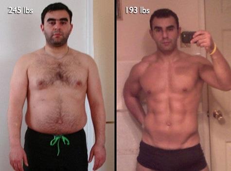Homens Antes E Depois Da Academia Dezembro 2012