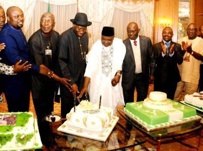 President jonathan birthday cake