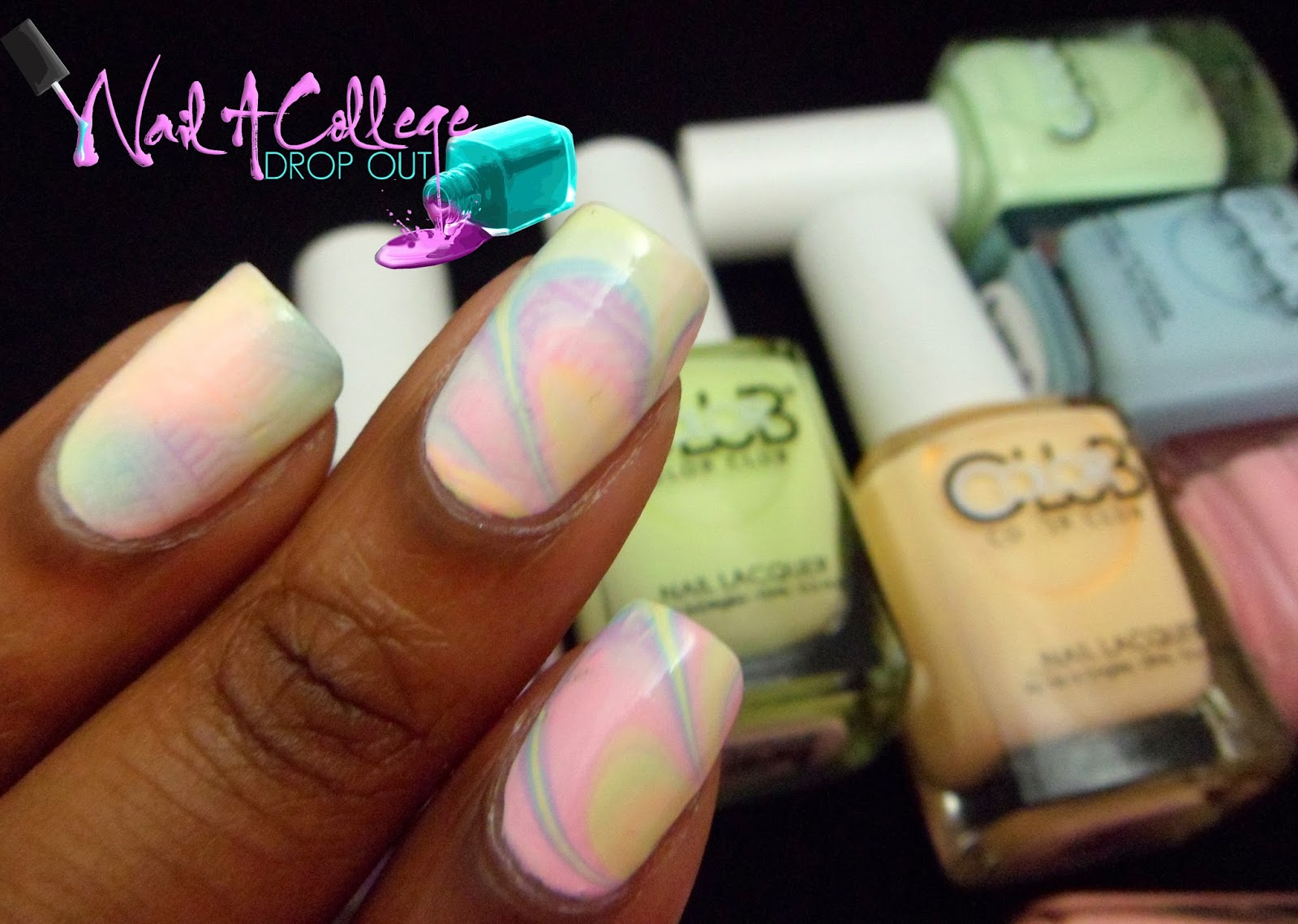 Nail A College Drop Out: Color Club Poptastic Pastel Neon Nail Art