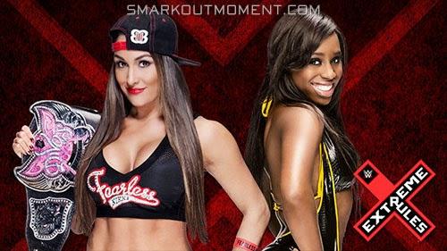 WWE Extreme Rules Divas Championship Naomi vs Nikki Bella