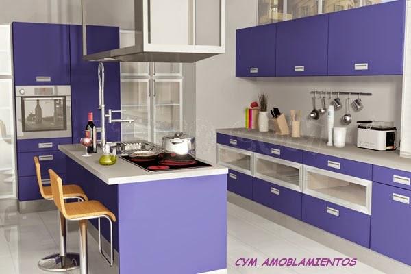 Cym amoblamientos renders cocinas modernas con isla for Amoblamientos de cocina modernos