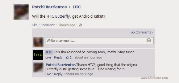 HTC Butterfly to get the KitKat update very soon