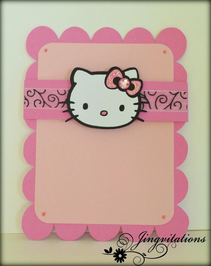 Jingvitations hello kitty card birthday invitations hello kitty birthday invitations stopboris Choice Image