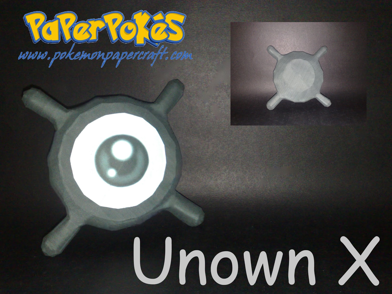 Pokemon Unown X Papercraft