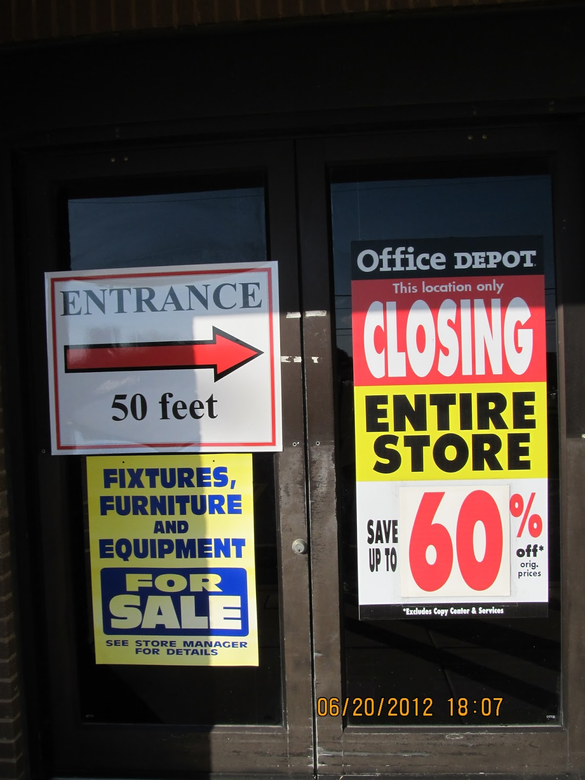 main depot officedepot displays solutions catching pole signs slider office image eye sign