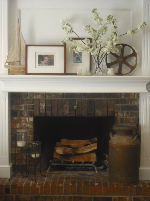 Lakeshore Cottage Living FireplaceMantel Decor Changes