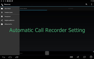 Setting Automatic Call Recorder